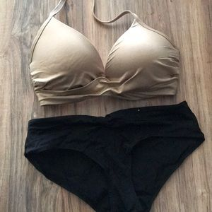 Other - L Gold Swim Top and Small Swim Bottom